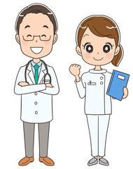 医師と看護士のイラスト