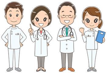 医療チームのイラスト