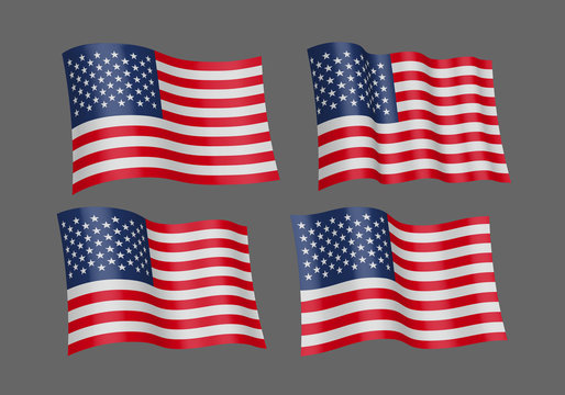 Waving flag of the United States