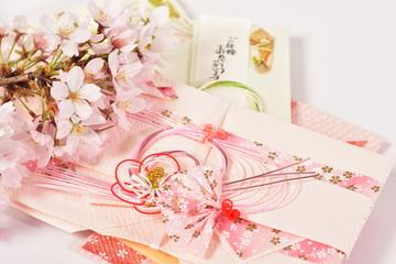ご祝儀袋と桜