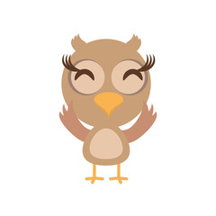 kawaii owl animal toy vector illustration eps 10
