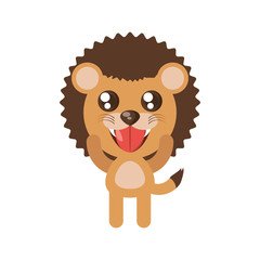 kawaii lion animal toy vector illustration eps 10