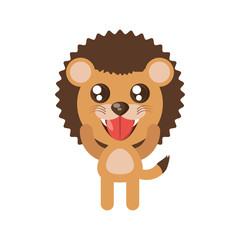 kawaii lion animal toy vector illustration eps 10