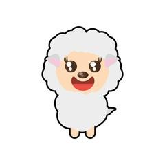 kawaii sheep animal toy vector illustration eps 10