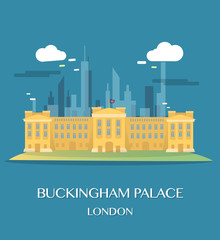 Famous London Landmark Saint Paul Illustration
