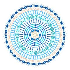 Vector ethnic ornamental colorful mandala