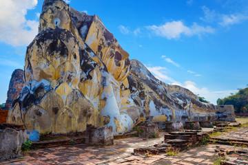 Wat Lokayasutharam Temple in Ayutthaya Historical Park, a UNESCO world heritage site, Thailand
