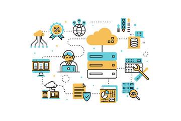 Web hosting illustration