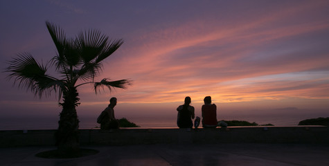 Sunset with couple