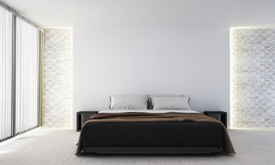 The modern bedroom interior design