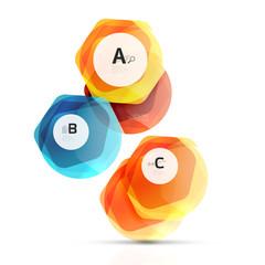 Abstract geometrical hexagon banner