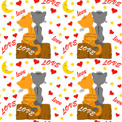 background, card, cartoon, cats, colorful, couple, cute, day, decor, decoration, design, drawing, dream, friends, gray, greetings, happiness, happy, heart, holiday, hug, illustration, image, invitatio