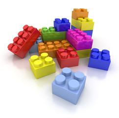 Colorful construction blocks