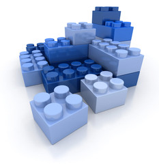 Construction blocks blue