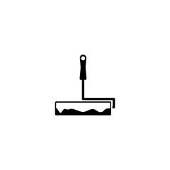 Pictogram paint brush icon. Black icon on white background.