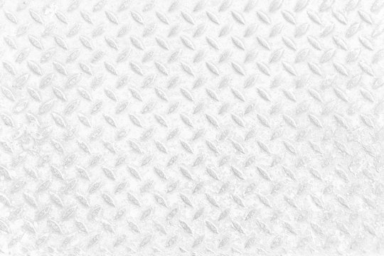 White Diamond Plate Texture Background.