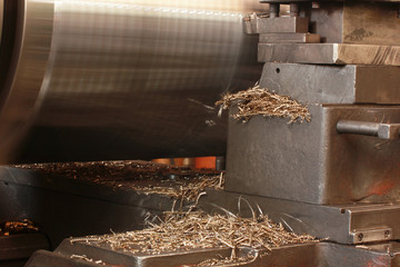 Twisted Metal shavings and lathe