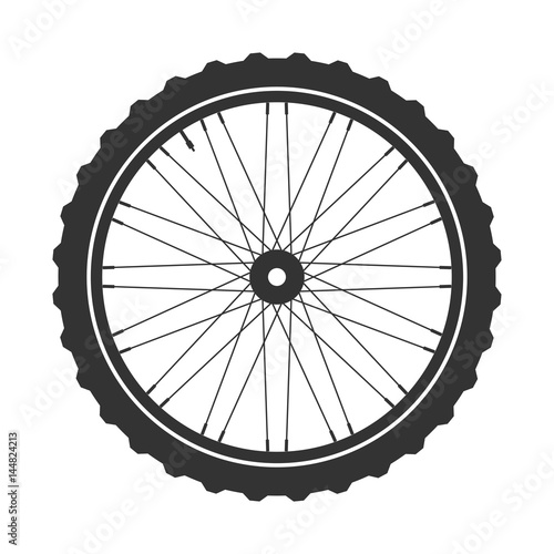 u0026quot bicycle wheel symbol vector  bike rubber  mountain tyre  valve  fitness cycle mtb  mountainbike
