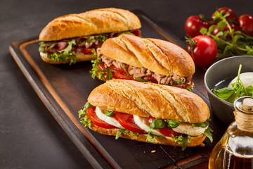 Delicious mozzarella cheese sandwich