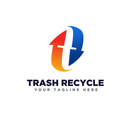 T logo recycle
