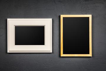 Picture frame on dark background