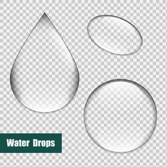 Bubbles set, Water Drops set. Glass sphere