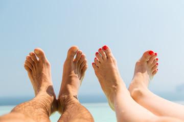 couple of feet on beach