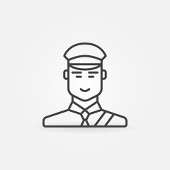 Customs officer or inspector icon