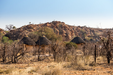 Huts of Camp in Mapungubwe National Park, South Africa, Africa