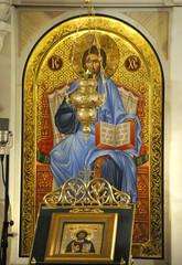Jesus Christ icon in orthodox church