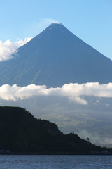 Mayon volcano,view from Legazpi Boulevard view point,Philippines