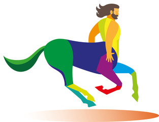 centaur is a mythological character from the head and torso of man and the body of the horse