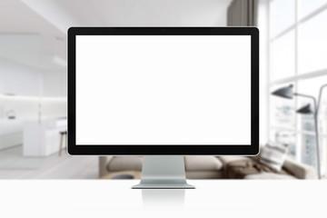 mock up devices in interior. 3d rendering, 3d illustration
