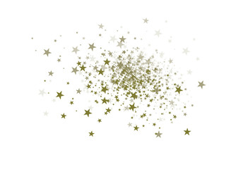 Falling stars on a white background.vector illustration.confetti.
