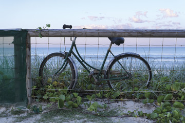 Bicycle with  sea background