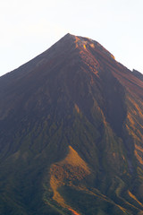 Mayon volcano in sunrise colors,Philippines