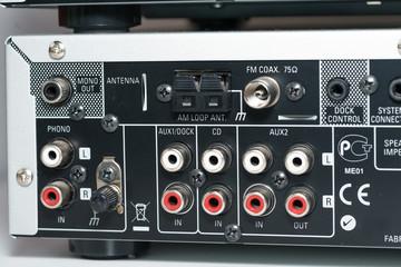 Input interface on a hifi stereo equipment