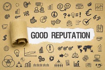 Good Reputation / Papier mit Symbole