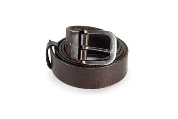 belt or men's brown belt isolated