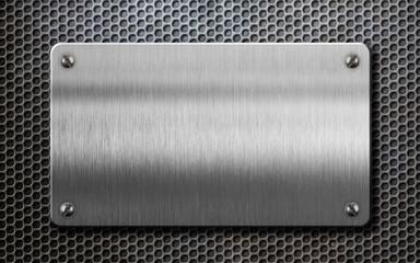 metal plate over comb background 3d illustration