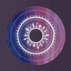 Blue violet mandala