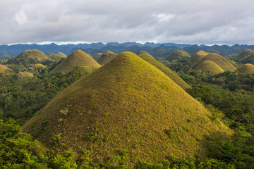 Poster Hill The Chocolate Hills view, Bohol Island, Philippines