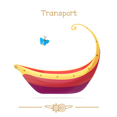 Illustration series cartoon transport: Red pleasure launch