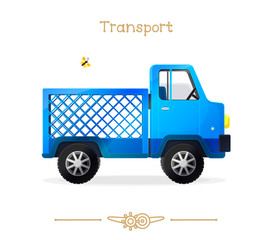 Illustration series cartoon transport: Cute lorry