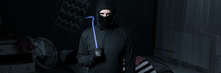 Burglar in apartment
