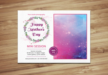 Mother's Day Photography Package Flyer Template 1