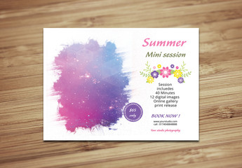 Summer Photography Package Flyer Template 1