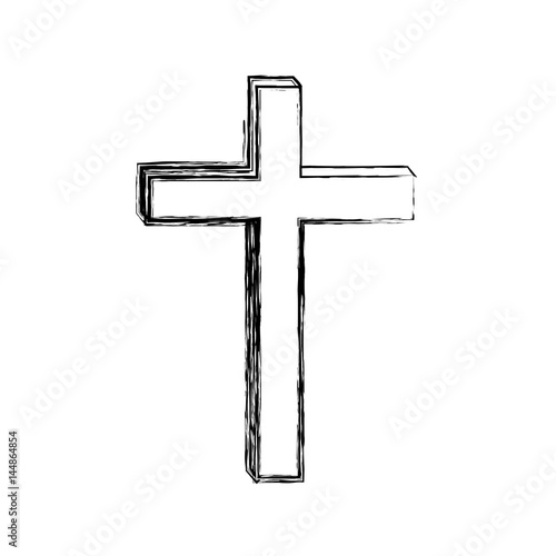 how to draw a 3d cross