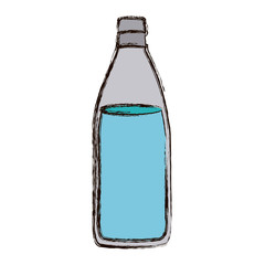 color blurred silhouette with bottle of water vector illustration