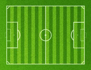 3D Rendering of top view soccer field